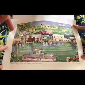 Carol Holding Bermuda Watercolor Painting